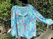 Peter Nygard 22 Womanand039s Top Cover Up Gold Thread Accents Nwt - Beach Vacation