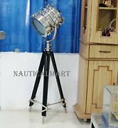 Medieval Epic Industrial Vintage Searchlight With Tripod Floor Lamp