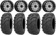 Msa Brute Bdlk 14 Atv Wheels 28 Bear Claw Evo Tires Can-am Renegade Outlander