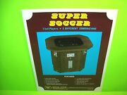 Westlake Systems Super Soccer Early Original Video Arcade Game Flyer Pong Style