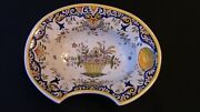 A French Desvres Barberand039s Shaving Bowl