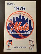 New York Mets 1976 Mlb Over-sized Pocket Schedule - Shea Stadium