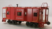 O 2rail Brass Unknown Baltimore And Ohio 32and039 Steel Wagon Top Caboose C2504 Painte