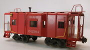 O 2rail Brass Unknown Baltimore And Ohio 32' Steel Wagon Top Caboose C2504 Painte