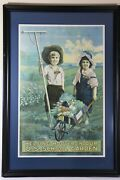 Original Lithograph Print Poster Military Wwi World War I 1 Army Hoover Rare 39