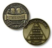 25 Years Plus And039old Timersand039 Honoree Bronze Coin Medallion Aa Alcoholics Anonymous