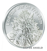 2018 1 Oz Proof Death Of The Dollar 16 End The War On Freedom - Silver Shield