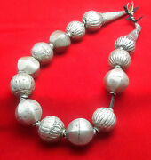 Vintage African Large Silver Beads By The Harrar People Of Ethiopia