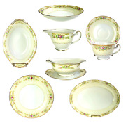 Grace Estate China Made In Japan 58 Piece Plate Bowl Cup Platter Gravy Creamer
