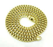 14k Yellow Gold Franco Italy Curb Box Mens Ladies Chain Necklace 3.5mm 20-30