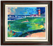 Leroy Neiman Color Serigraph Signed 18th At Harbourtown Big Time Golf Signed Art