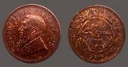 South Africa 1898 Penny Ch Unc Scarce Sharp Detail 200