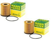 Pair Set Of 2 Engine Oil Filters Mann Hu 816/2 X For Mini R53 Cooper 02-08 1.6