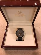 Gevril Menand039s 2004 Columbus Circle Black Ion-plated Stainless Steel Watch Auto