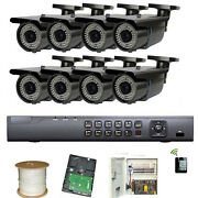 8channel Hd-tvi Dvr 1.3mp 2.8-12mm Lens 72ir Led Outdoor Security Camera Sys 1