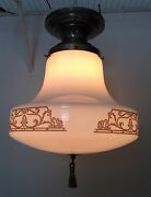 Antique Fixture Globe Wired School House Finial Decorative Art Great