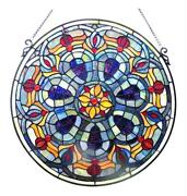Stained Glass Lighting Victorian Window Panel 20 Diameter Handcrafted New