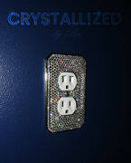 Bling Crystallized Switch Plate Cover Outlet Toggle Rocker W/ Crystals