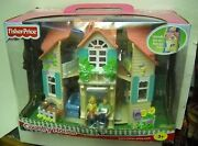 3467 Nrfb Vintage Fisher Price Country House Dollhouse Playset