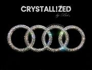 Crystallized Emblem For Audi Front Badge Rings Bling Made W/ Genuine Crystals