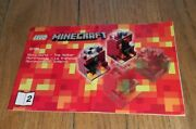 Lego Minecraft 21106 Micro World The Nether 2 Manual Only Instruction Toy Legos