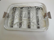 C 1950andrsquos Italian Murano Venini Twisted Rope Glass Vanity Tray Etched Mirror