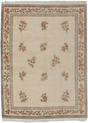 Rra 9x12 Chinese Peking Floral Bouquet Design Ivory Rug 29253