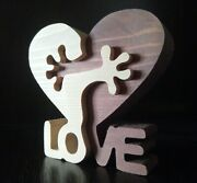 Figurine Handmade From The Crimea Exclusive A Pair Of Hearts Love Gift