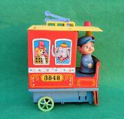 Vintage Old Modern Toy Trade Mark Kiddy Trolley Battery Litho Tin Toy , Japan