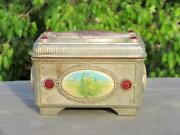 Vintage Old Rare Wide Up Musical Jewellery Celluloid Litho Print Toy Box Japan