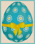 Easter Egg With Yellow Bow Counted Cross Stitch Complete Kit No. 42-129