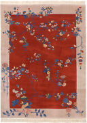 Rra 9x12 Chinese Art Deco Inspired Design Red Rug 19833