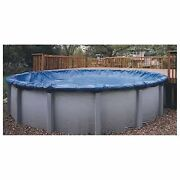 Winter Cover For Ag Pools W/cable Winch 4 Foot Overlap Oval And Round High Quality