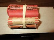 1950's,60's.70's ,lincoln Penny Roll , Almost Uncirculated /circulated , 5 Rolls
