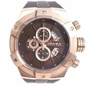 Brera Orologi Brssc49 Super Sportivo Watches Gold/brown Rubber/stainless S...
