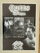 Queen Ontour With Paul Rodgers,rare 2005 Poster