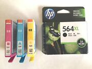 Hp 564xl Black And 564 Standard And Color Ink Cartridges Combo Pack New Open Box