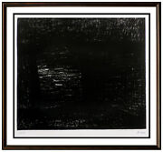 Henry Moore The Bridge Lithograph Hand Signed Abstract Modern Landscape Artwork