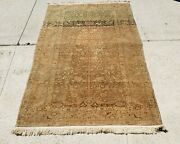 An Antique Muted Rug With Tree Of Life And Doves