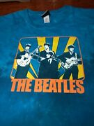 Awesome Beatles On Stage Tie-dye Liquid Blue T-shirt Size Xxl Preowned