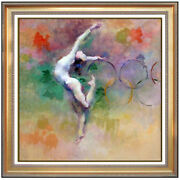 Hua Chen Olympic Dreams Hand Embellished Giclee On Canvas Signed Large Art Oil