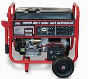 All Power 10000-w Portable Hybrid Dual Fuel Gas Generator With Electric Start