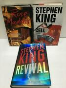 Lot Of 3 Stephen King Hardcover Books Rose Madder Cell Revival First Additions