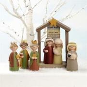 Nativity Holy Family With Creche Shepherd And Wise Men 5 Piece Set Blossom Bucket