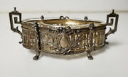 Antique Jewelry Powder Dish Silver 930 Paris 1902 Oct 2nd E.r.m. Rare Claw Foot
