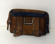 Vintage Military Leather Pouch Ww1 Or Ww2 German Us Medical Bag