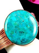 Jay King Desert Rose Trading Copper Wire Hidden Valley Turquoise Cuff Bracelet