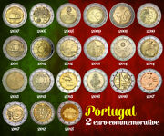 All 2 Euro € Portugal Commemorative Coins 2007 2008 2009 2010 2011 2012 To 2018