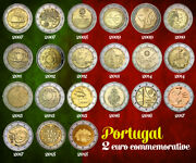 All 2 Euro Andeuro Portugal Commemorative Coins 2007 2008 2009 2010 2011 2012 To 2018