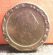 Nice Single Year Type 1797 Great Britain 2 Pence Mintage Only 722,000 Km 619